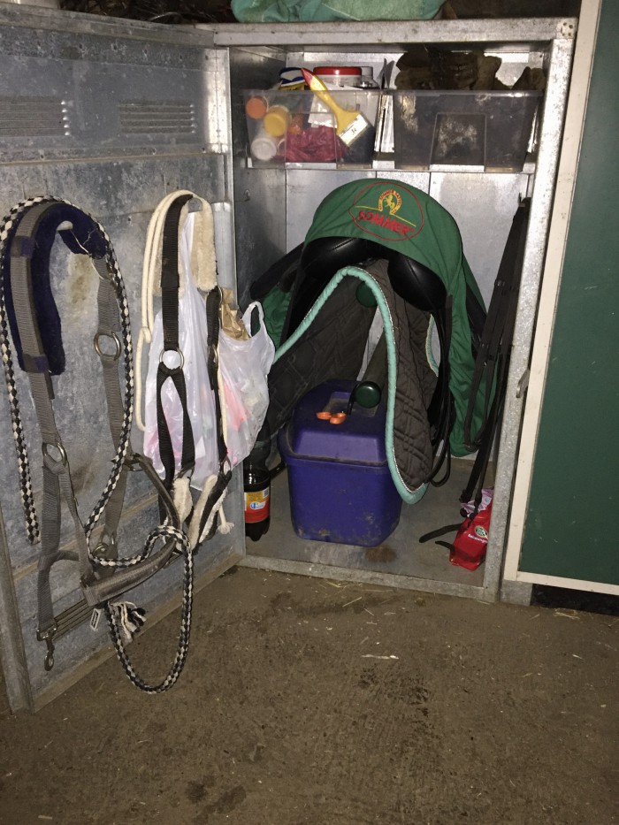 Sattelschrank für Pferdezubehör - Pferde und Hunde